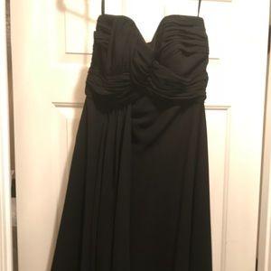 Black chiffon layered dress